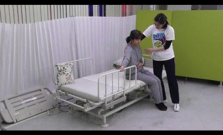 仰臥位→端座位(一部介助)左半身麻痺